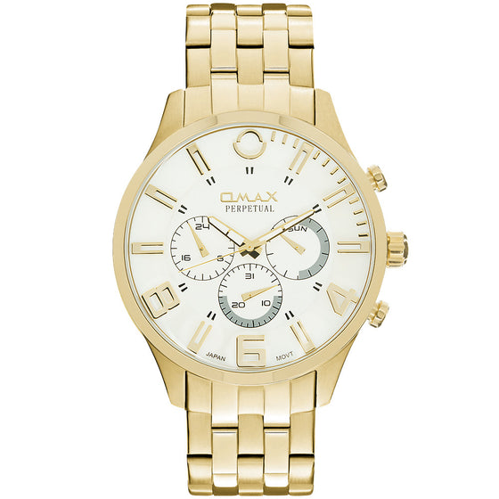 William Stainless Steel Multi-function Watch (Gold)