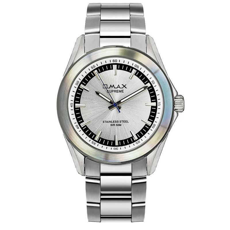 Caleb Silver Stainless Steel Watch