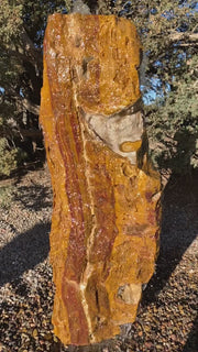 Verde Canyon Onyx stone fountain by The Rock Star Gallery® in a courtyard setting.