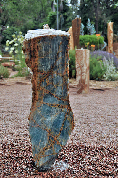 Argentine Aquamarine Stone Fountain 1 SOLD