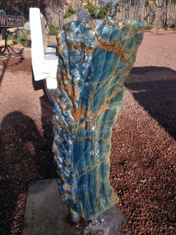Argentine Aquamarine Stone Fountain 8 SOLD