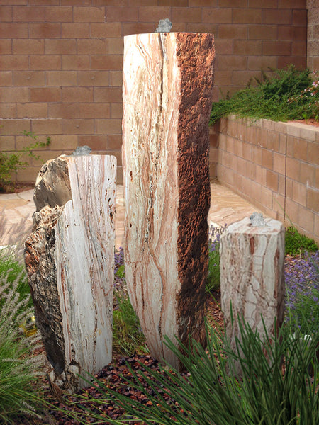 Desert Rose Onyx Columns, Singular or a Set of Three