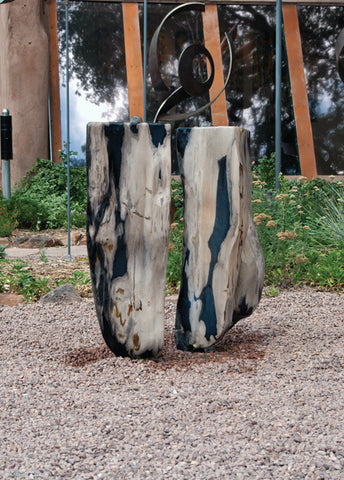 Petrified Wood Fountain 4 SOLD