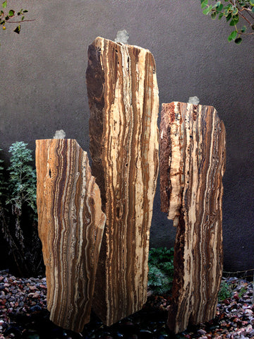 Grand Canyon Red Onyx Columns, Singular or a Set of Three