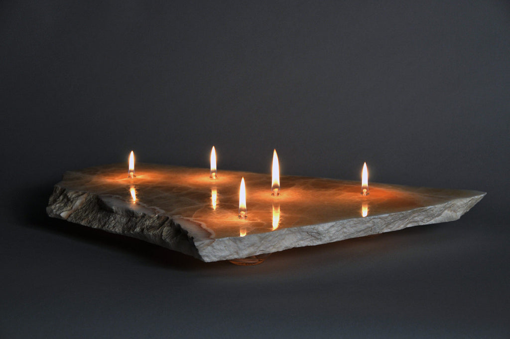Picture of: Sunrise Onyx Stone Floating Candle Five Wick The Rock Star Gallery