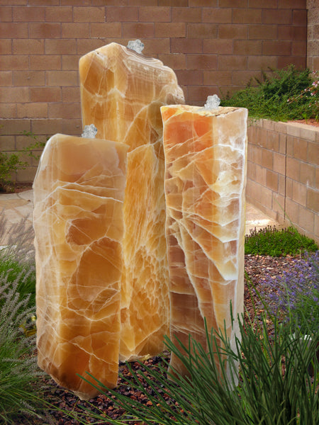 Sunrise Onyx Columns, Singular or a Set of Three