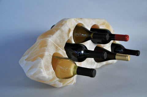 6 bottle Sunrise Onyx Wine Bottle Holder