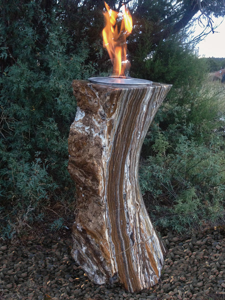 Black Canyon Onyx Fire Feature & Fountain - SOLD