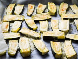Baked Zucchini, Farmhouse Cheese & Gindo's