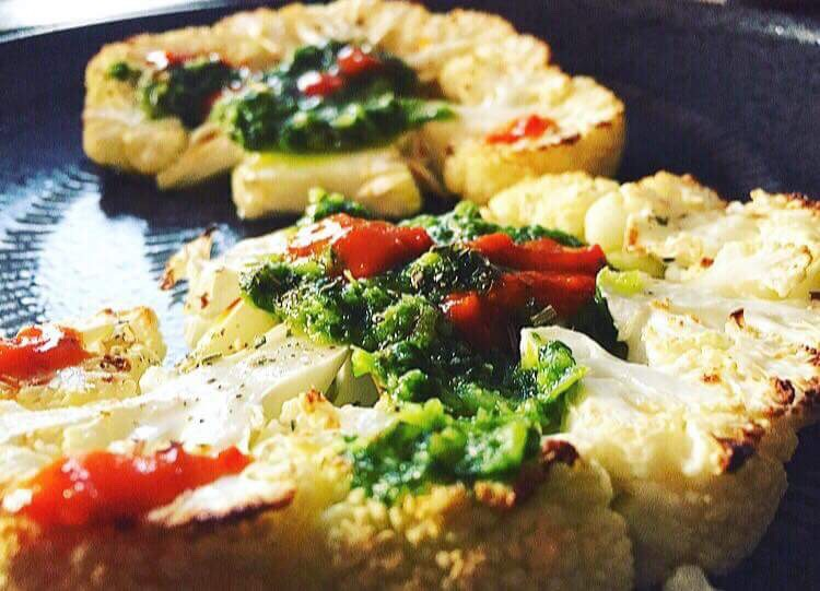 CAULIFLOWER STEAKS With Chimichurri Butter