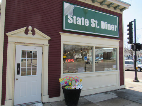 State Street Diner in Geneva, IL, proud supporter of Gindo's Hot Sauces