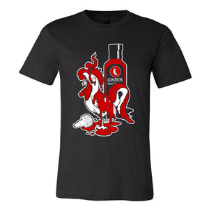 Gindo's Fiery Rooster T-Shirt