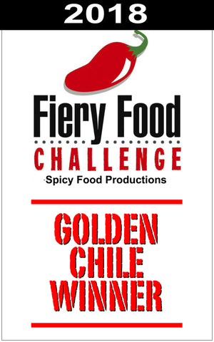 Gindo's Chocolate Moruga Scorpion 2018 Golden Chile Winner Fiery Food Challenge Texas