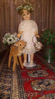 Antique 1950s Celluloid Doll 18 inch Steiff Bambi Deer 22cm 1951-67 Germany Only
