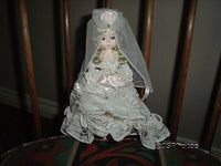 Bradley Dolls Original Miss June Wedding Bride & Stand