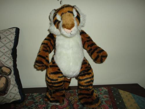 Nanco Animaland Denmark STANDING TIGER Stuffed Plush 16 inch