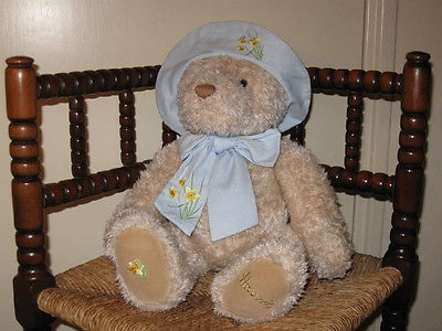 Harrods London Large Spring Easter Daffodil Bear RARE