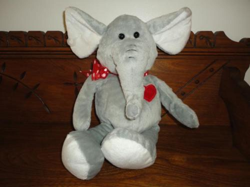 Elephant Stuffed Soft Toy Valentine Hearts 16 inches