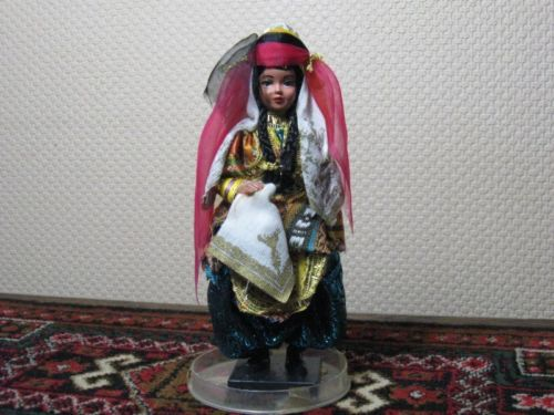 Vintage 1970s Souvenir Costume Doll Made in Turkey ASII Rare w Case