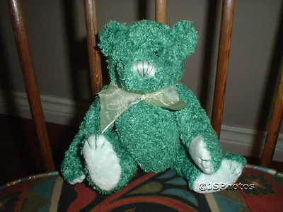 Ganz Christmas Holiday 8 Inch Scented Green Teddy Bear TBXH 2001