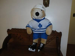 1992 Pro Bear Made for NHL Hockey Toronto Maple Leafs 22 inch Full Uniform