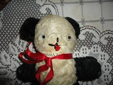 Antique Old Panda Bear 9 in. Comical Eyes Kapok Filling