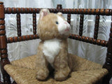 Vintage Dutch Sitting Tabby Cat Plush 26 CM No IDs