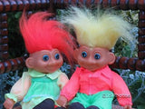 Dutch Troll Girl & Boy Doll 1980s