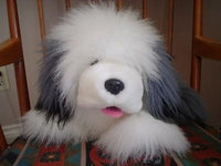 24K Mighty Star Timmie Old English Sheepdog Gray White Plush 14 inch 5673 1990