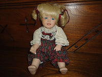 Porcelain Doll Musical Moving Baby Brahms Lullaby Wind Up Mechanical Body