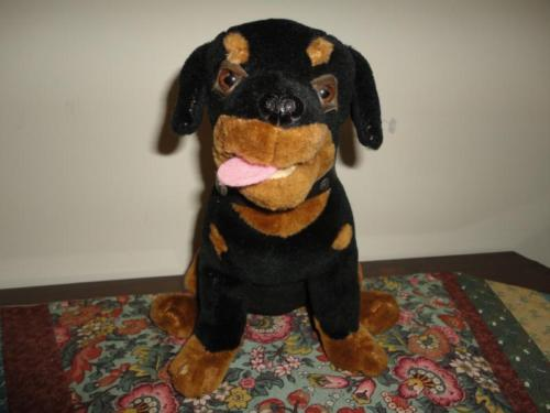 Vintage ROTTWEILER PUPPY DOG Stuffed Plush Best Made Toys Toronto