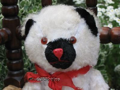 Antique Old Germany Silk Plush Mechanical White Bear