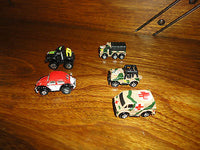 Galoob Micro Machines 1986 1987 1990 Roadchamps Truck  Army VW Lot of 5 Total