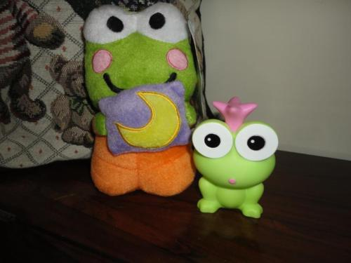 Keroppi Frog Plush Official Sanrio Nanco Product & Rubber Frog Prince