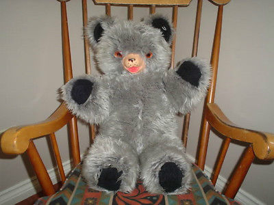 Antique KNICKERBOCKER GANZ Canada 1950s Jumbo BEAR 25in