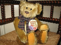 Gund Nesbit Americas Teddy Bear UK Gold Mohair Bear 15 Inch 15056 2001 New