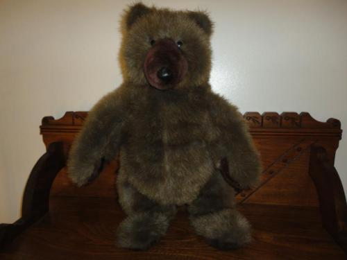 GRIZZLY BEAR DANA 24K Polar Puffs Standing Brown Plush 18 inch 1989 Heavy Weight