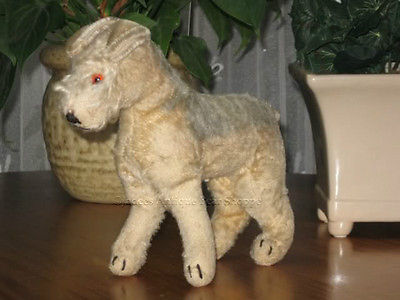 Antique Hermann Airedale Mohair Terrier 1950s No Ids
