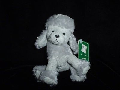 Russ Frenchie French Poodle Dog 4216 Tags 5 Inch Chamois Suedelike Plush