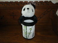 Panda Plush Bamboo Embroidered Pencil Pen Holder Onkeiwei China 8 inch