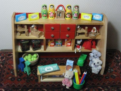Vintage Simba German Wooden Doll House Grocery Store Toy Shoppe Miniature Toys