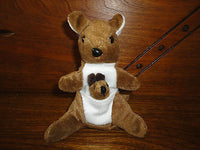 Kangaroo with Baby in Pouch Stuffed Plush Toy 5 inch