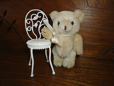 Jointed Little Miniature Bear with Chair Made in China