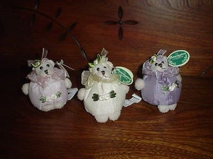 Bearington 3 Satin Handmade Scented Potpourri Bears