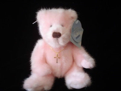 Applause Bears of Faith with Crucifix Necklace Plush Teddy Dan Born Oct 25