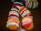 Vintage Handmade Cloth Fabric CLOWN DOLL One of a Kind 17 inch