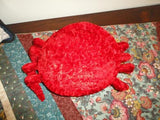 CRAB Stuffed Red Crushed Velvet Plush Toy 10 inch