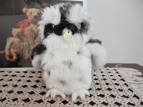 Gund HOOTEN OWL Grey/White Plush 8 inch Nr. 12025 GORGEOUS! Retired HTF