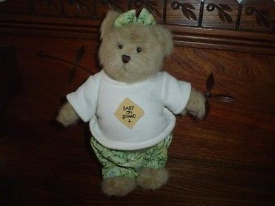Boyds Bears IMA LATE Expecting Pregnancy Mother Baby On Board Bear