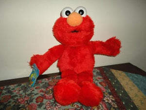 Applause 1997 TALKING ELMO Doll Toy Sesame Street Muppets Jim Henson 15 inch